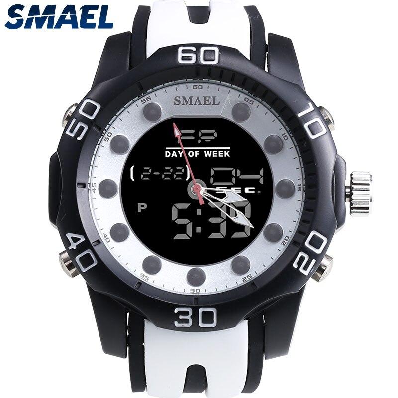 Fashion SMAEL Brand New Cool Men Watch Quartz Design Dual Time Display Smart Casual Hot Selling Watch Waterproof LED Clock 1112