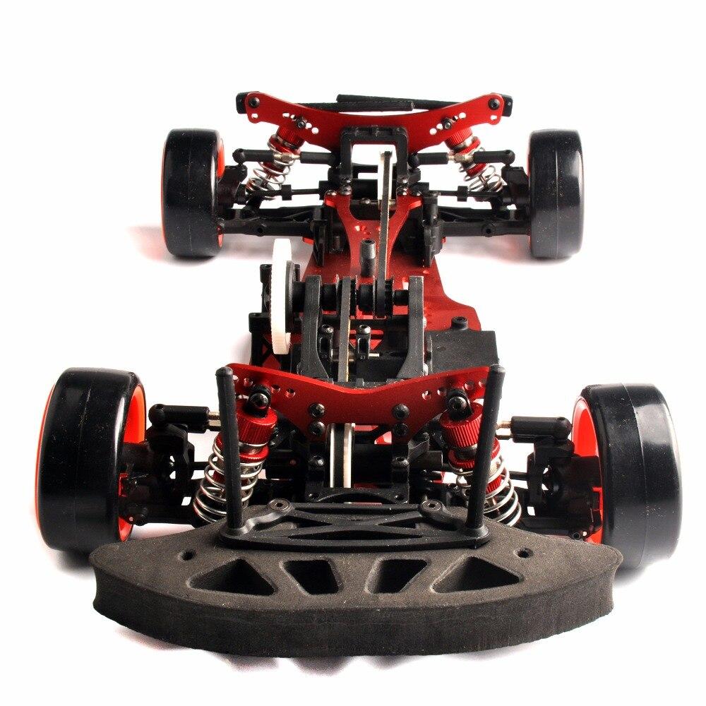 1/10 Alum. alloy + Carbon 4WD RC Drift Car Kit On Road  / 4WD 1:10 Drift RC Racing Car Carbon Fiber Shaft Drive Frame Kit 1 10 scale rc drift frame kit 4wd 646801r1 rc body drift racing car