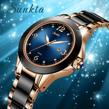 SUNKTA Fashion Women Watches Rose Gold Ladies Bracelet Watches 2019New Creative Waterproof Quartz Watches For Women Reloj Mujer