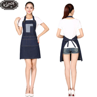 1pc Unisex Pro Salon Hairdressing Denim Apron Retro Hair Cutting Barber Capes Splice Workwear Cloth with Tool Pockets