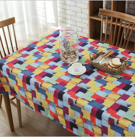 Rectangular Fabric Tablecloth In Patchwork Style Best