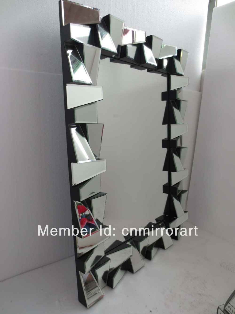 Fashion 3d Design Angled Faced Wall Mirror Art In Decorative Mirrors