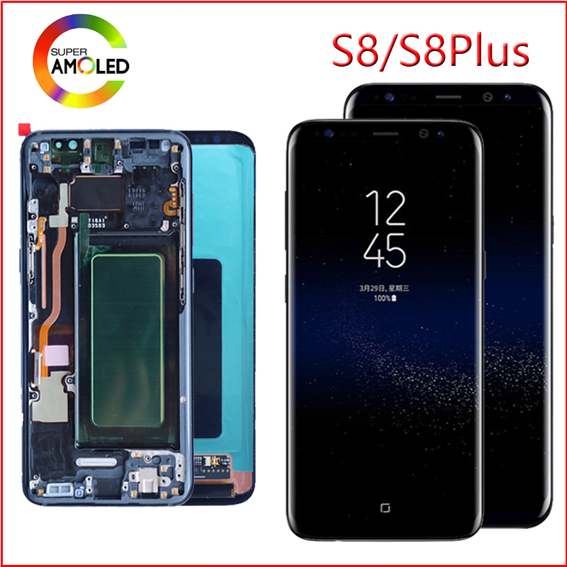 For Samsung Galaxy S8 Lcd Display Plus G950 G950F G955fd G955F G955 With Burn Shadow