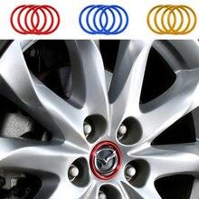 Cubierta del centro de volante para Mazda 6 Atenza CX-4, CX-5, Mazda 3 Axela, accesorios de reacondicionamiento, estilo, 4 unids/lote