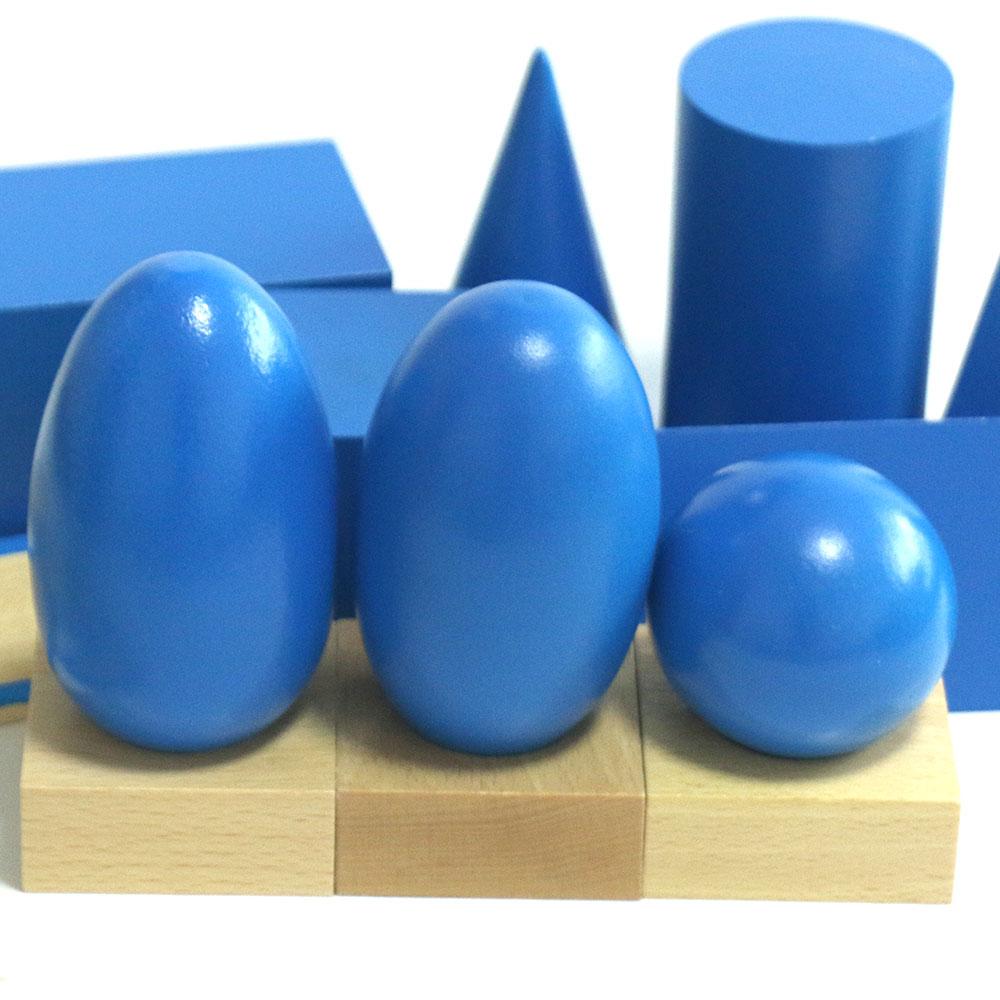 Montessori jouets éducatifs en bois solide géométrie bloc préscolaire en bois Montessori jouets d'apprentissage pour 2 3 4 ans B1667T - 3