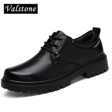 Valstone Quality Hand made Genuine leather Boots Men Low cut Ankle Woker Boots Male classical fashion shoes rubber bottom sizes