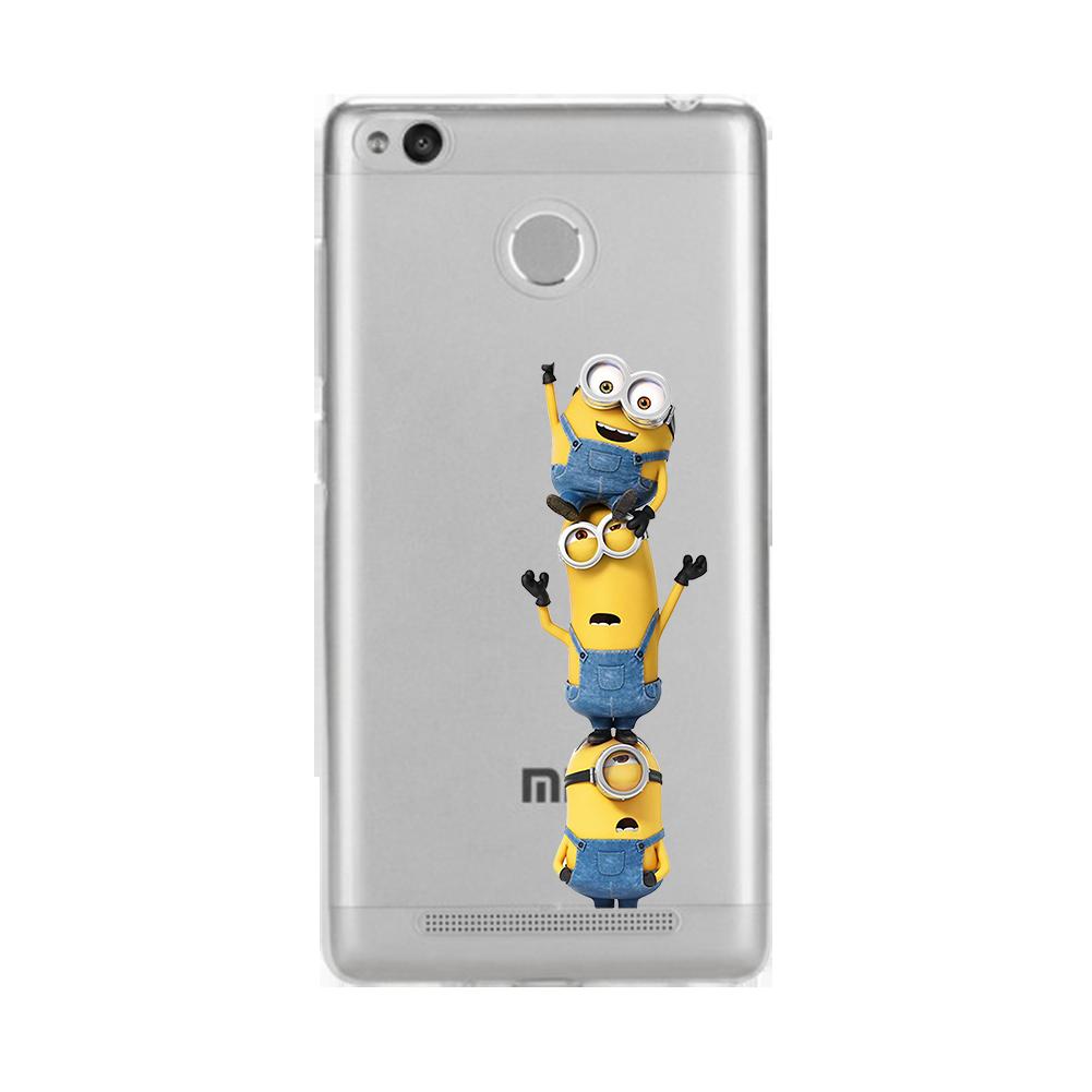 Minion Mickey Minnie Cute Funny Soft TPU Silicone Case for Xiaomi Redmi 4 4A 3S Mi A1 Mi 5X Note 5A Note 3 4 Pro Transparent