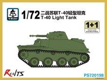 S-model-tanque de luz de T-40, PS720198, WWII 1/72