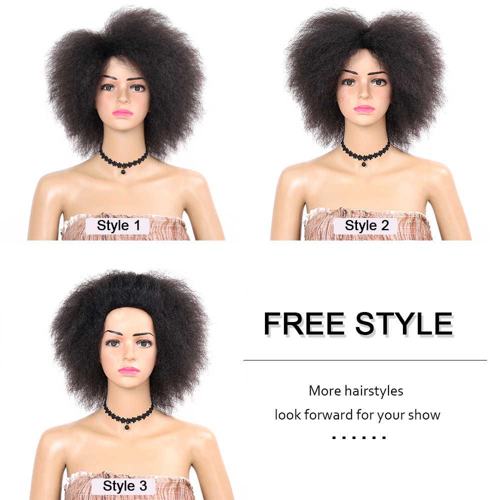 Золотой красота короткий афро парик кудрявый натуральный высокотемпературный волокно Афро-американский синтетический парик для женщин красный коричневый черный
