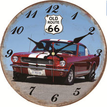 hot deal buy shabby chic cool car design clocks home decor office cafe kitchen wall watches silent clocks art vintage large wall clocks