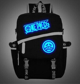 Anime uma peça luminosa mochila sacos de escola estudante presente