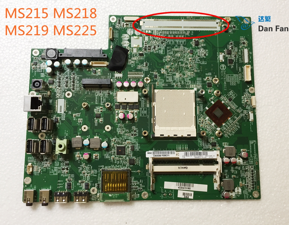 570966-001 For HP MS215 MS218 MS219 MS225 AIO Motherboard DA0ZN1MB6C0 Mainboard 100%tested Fully Work