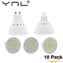 10PCS/Lot Lampada Led E27 E14 GU10 MR16 Led Lamp 220V High Bright Bombillas LED Bulb SMD 2835 48 60 80LEDs Lampara For Spotlight