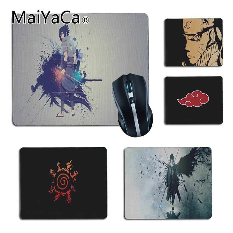 MaiYaCa 2018 New Naruto Sasuke Akatsuki Office Mice Rubber Mouse Pad Size for 25X29cm 18x22cm Gaming Mousepads