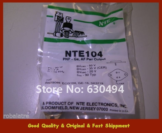 Бесплатная Доставка NTE104 Германий PNP Транзистор Звуковой Частоты Усилитель Мощности ТО-3 NEW СИБ