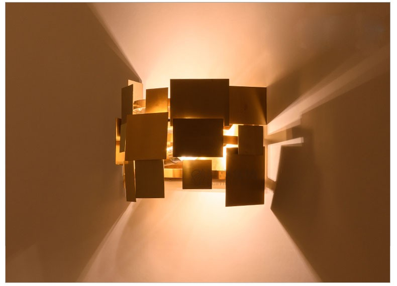 Stainless Steel Square Wall Lamp 18