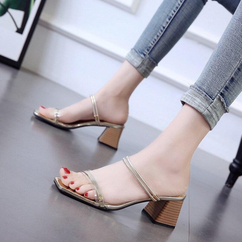 100% Wahr Sommer Partei Schuhe Frauen High Heels Sandalen 2019 Mode Damen Platz Heels Elegante Öffnen Toed Luxus Frau Sandale A1237 Mit Den Modernsten GeräTen Und Techniken