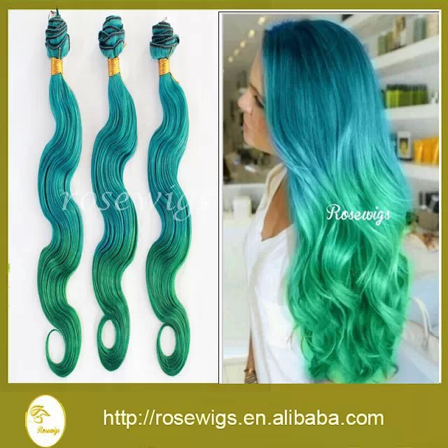 Ombre Hair Blue And Green Hair Color Ideas And Styles For 2018