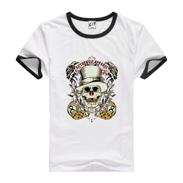 2017 Free shipping  summer  Brand Clothing  Men T-shirt streetwear Short Sleeve   Tiger pattern Floral Knitted Casual Off White