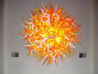 Free Shipping AC LED High Ceiling Hanging Stylish Dale Chihuly Artistic Italian Handmade Chandelier