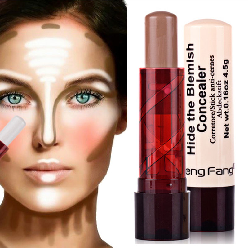 Professional Ladies Makeup Face Blush Contour Highlighter Stick Foundation Make Up Bronzer Base Concealer Pencil Maquiagem