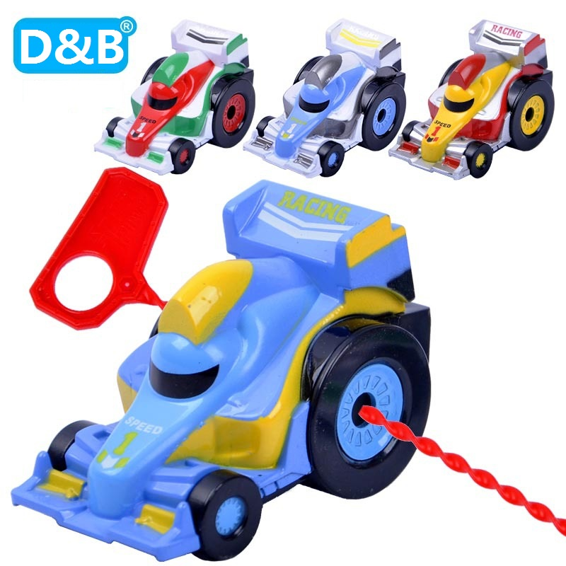 Novelty spiral tension F1 new product childrens alloy car spiral tension F1 speed cars Model Toys for Kids Gifts