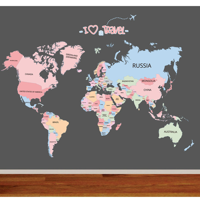 Diy world travel map for kids baby bedroom vinyl wall art home decor diy world travel map for kids baby bedroom vinyl wall art home decor furnishings removable decals gumiabroncs Gallery