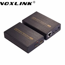 VOXLINK HDMI Extender over 60m Cat 5e/6  Cable HDMI Transmitter Receiver With IR Control EDID Managemet for HDTV STB DVD PS3