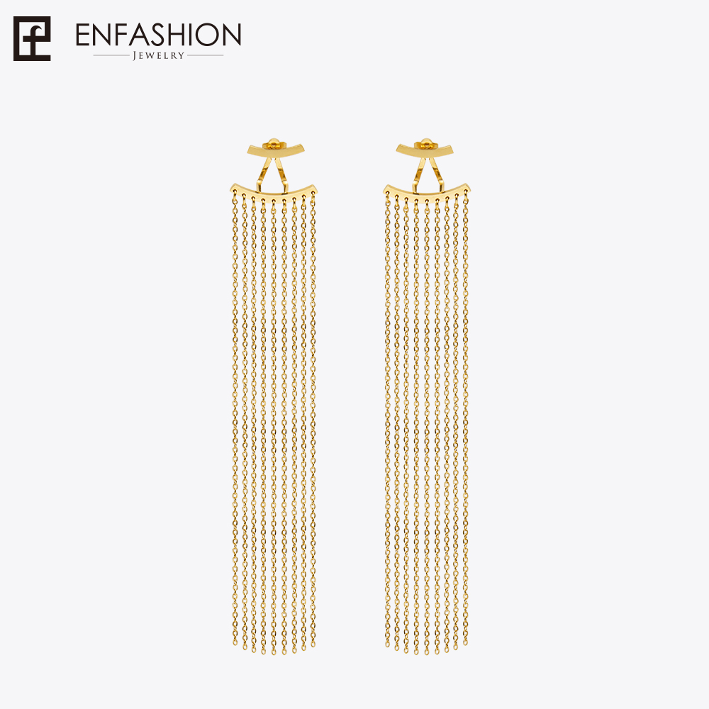 Enfashion Long Tassels Dangle Earrings Gold Color Earings Drop Earrings For Women Long Earring Fashion Jewelry brinco крем эмульсия восстанавливающая mustela dermo pediatrics stelatria детский восстанавливающий 40 мл