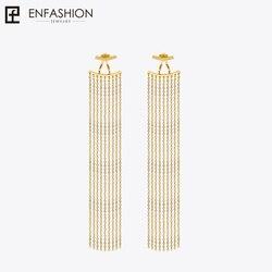 Enfashion Long Tassels Dangle Earrings Gold Color Earings Drop Earrings For Women Long Earring Fashion Jewelry brinco