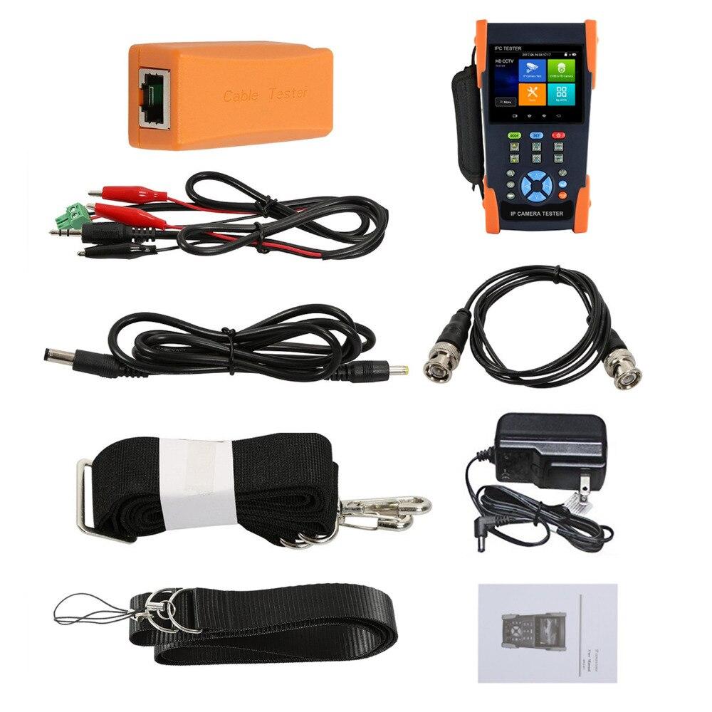 2018 Latest H.265 4K IP Tester 5MP AHD Analog CVBS CCTV tester Monitor with Rapid ONVIF WIFI PoE Digital Multimeter test
