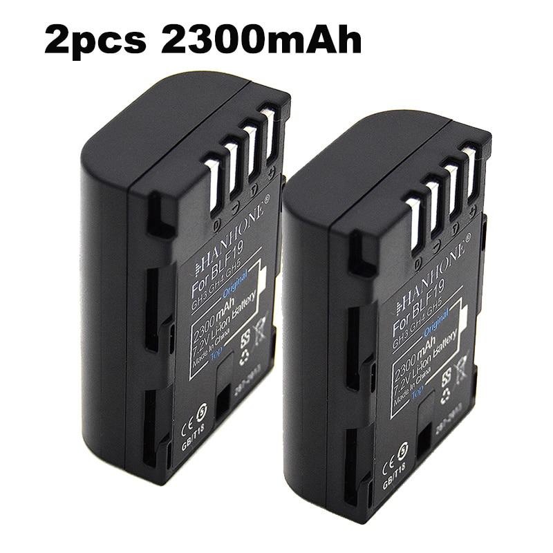 2PCS 2300mAh DMW-BLF19,DMW-BLF19e,DMW-BLF19PP Battery for Panasonic Lumix DC-GH5,DMC-GH3, DMC-GH3K, GH4, GH4K Digital Camera