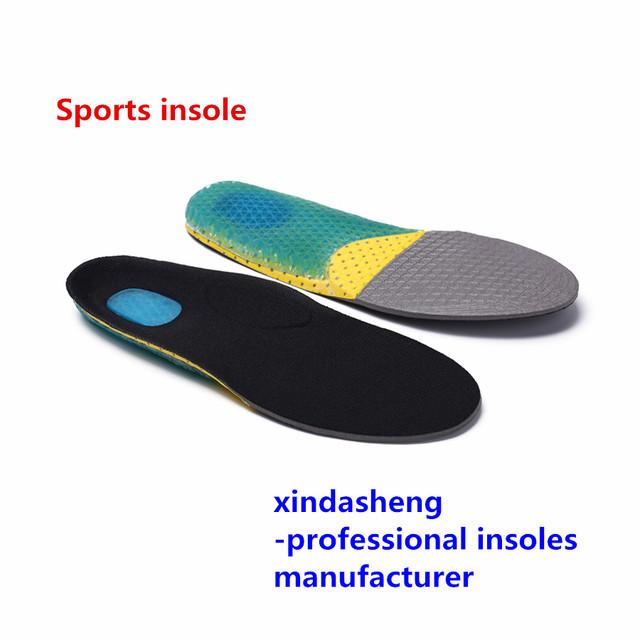 Esportes em execução sapatos almofada antiperspirante absorção do suor respirável absorção de choque palmilha de gel de sílica favo de mel Mulheres masculino Tamanho
