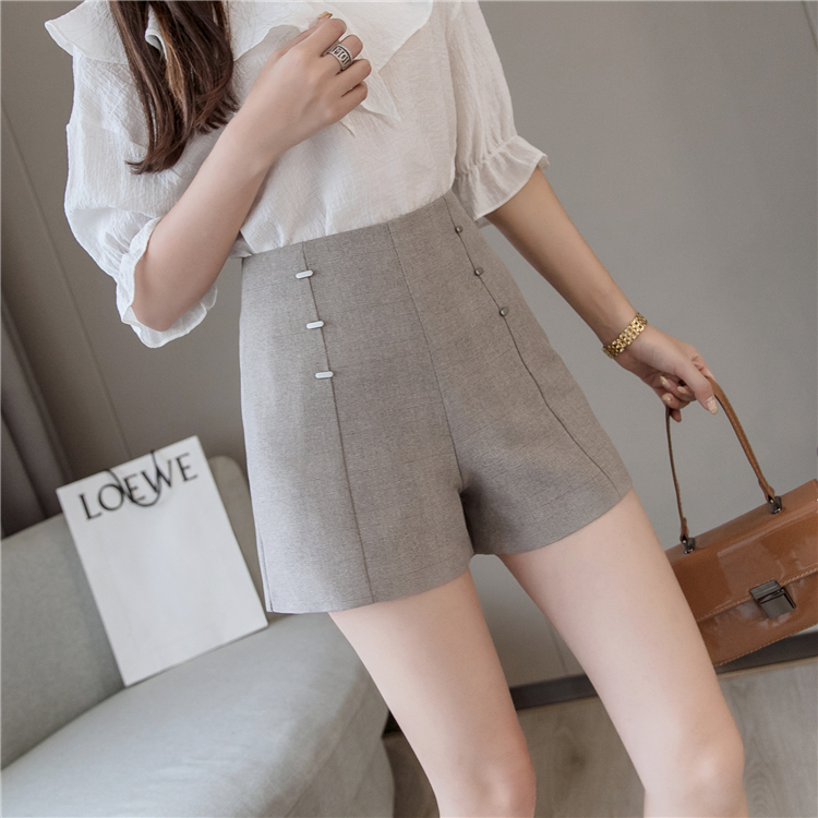 Summer Shorts For Women 2019 High Waist Casual Wide Leg Shorts Loose OL work Wear Solid Shorts 21