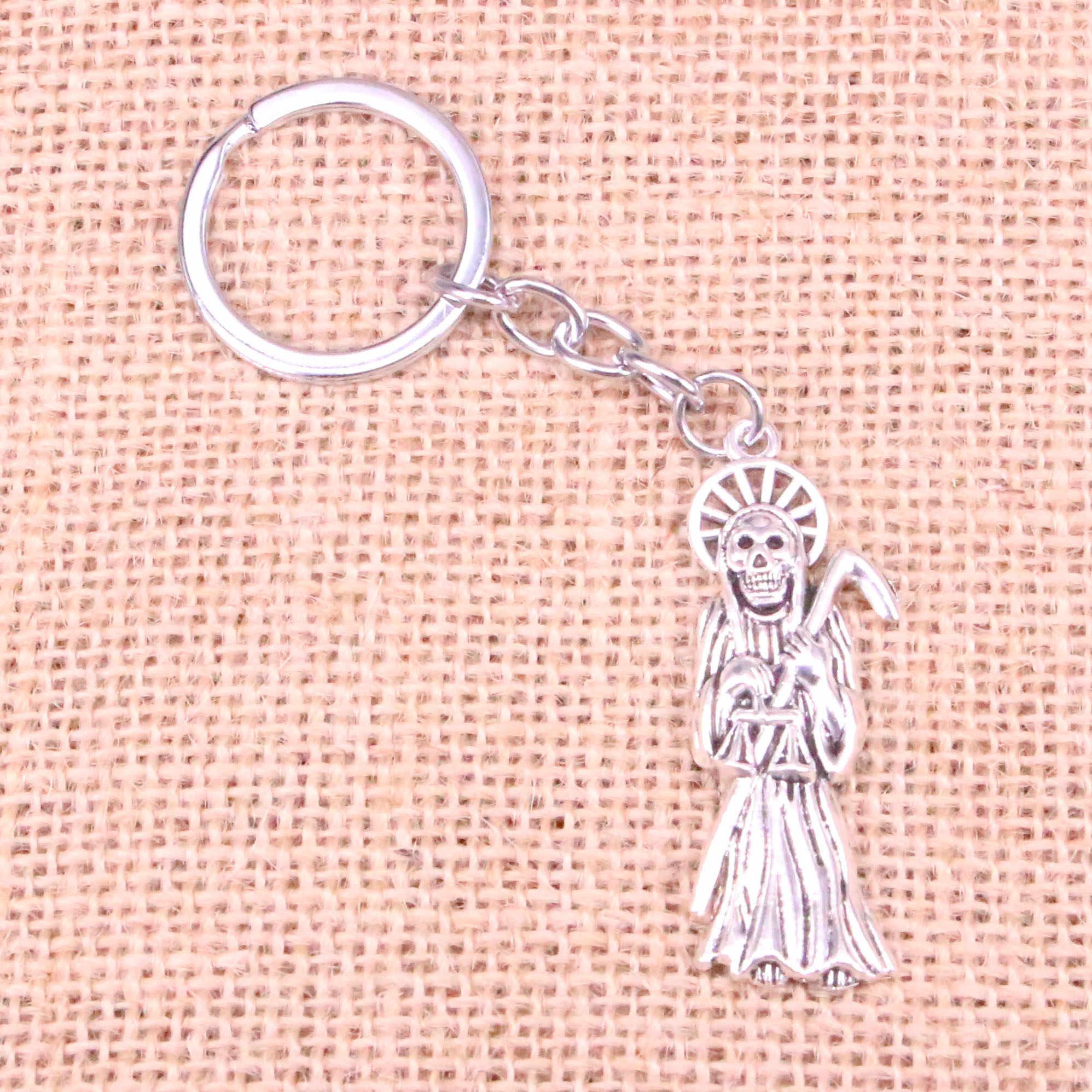 Novedad grim reaper death Charm colgante llavero cadena accesorios joyería para regalos