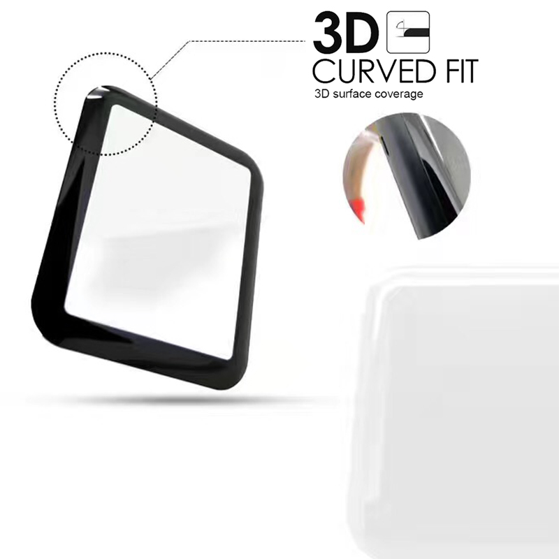 MCMEME-Tempered-Glass-For-Apple-Watch-38mm-42mm-Series-2-1-Full-Cover-3D-Curved-Black