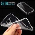 Ultra thin tpu suave silicona transparente clear case para samsung galaxy ace style lte g357/ace 4 g357fz + protector de pantalla