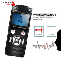 Portable 8GB HD Digital Audio Sound Voice Recorder Dictaphone WAV MP3 Player Recording Pen 50m Noise Reduction Support Music
