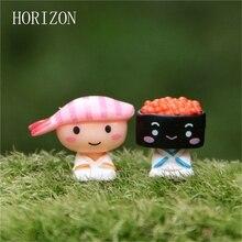 New2pcs/lot любителей Суши пейзаж куклы украшения модель Мило Фигурку Модель Игрушки коллекция подарок украшения