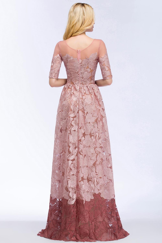 Rose Lace Evening Dress