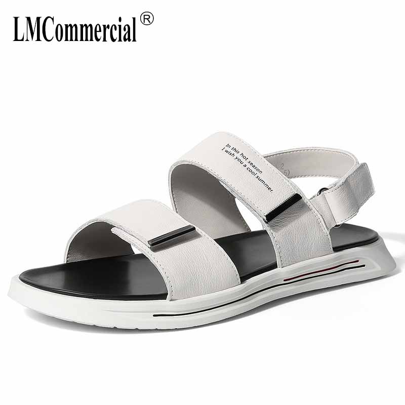 summer new Genuine Leather Rome sandals Sneakers Men Slippers Flip Flops casual Shoes beach outdoor anti-skid all-match cowhide