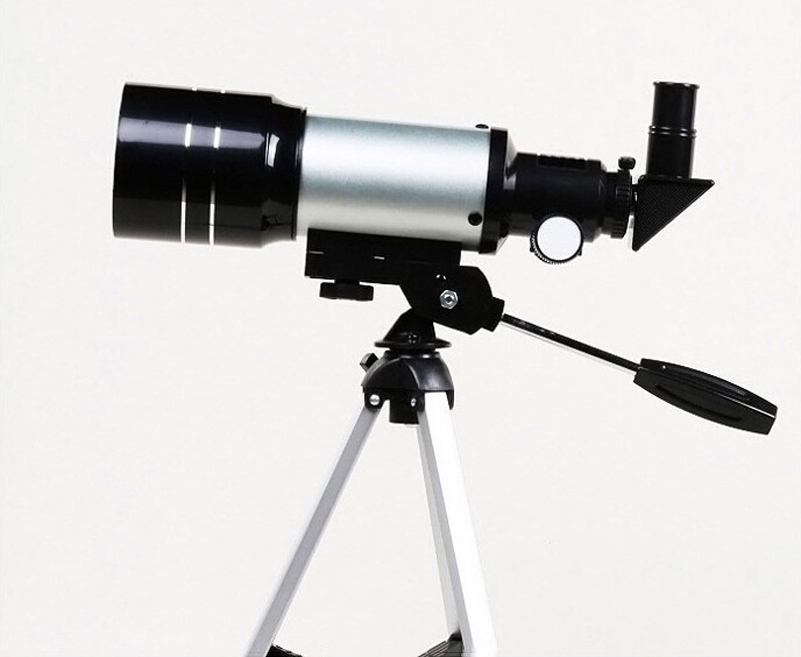 Professional astronomical monocular telescope f m silver with