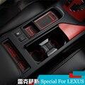 Carro de alta Qualidade Cobre Látex Adesivo Antiderrapante Porta Interior Copo Pad Mat Mat Ranhura Portão Para Lexus NX200T NX300H NX 2015 2016 18 PC