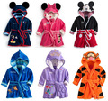 Baby Bathrobe Autumn Winter Flannel Bathrobe Kids Children Nightwear Long Sleeve Thicken Boys Bath Robe Bathrobe Hooded Homewear