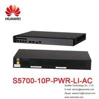 HW S5700 10P PWR LI AC S5700 коммутатор 8 Ethernet 10/100/1000 poe + порты 2 Gig SFP AC 110/ 220 В