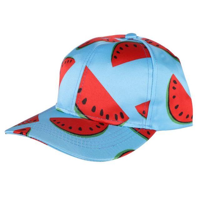 61e7257fd6da5a 2017 neue Stil Frauen Männer Sommer Wassermelone Gedruckt Runing Caps Hip  Hop Hut Wandern Unisex Caps