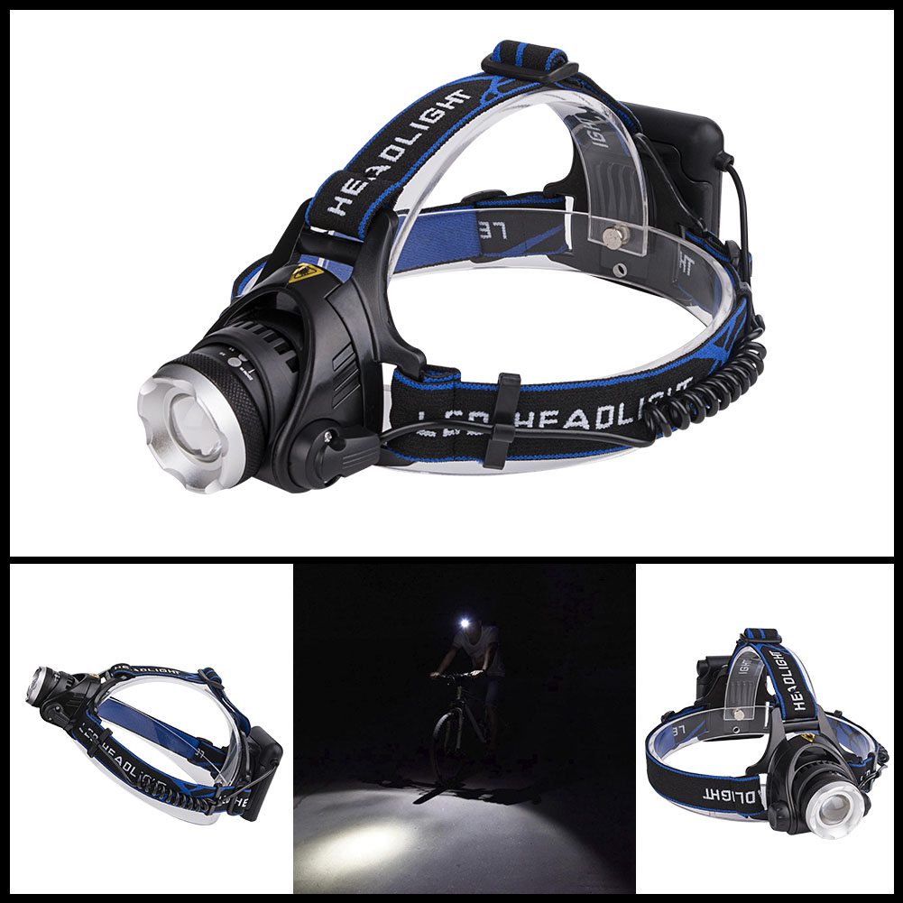 2000 lumens xm l xml t6 led headlamp headlight flashlight head lamp light aa battery camping hunting 3 modes 6v