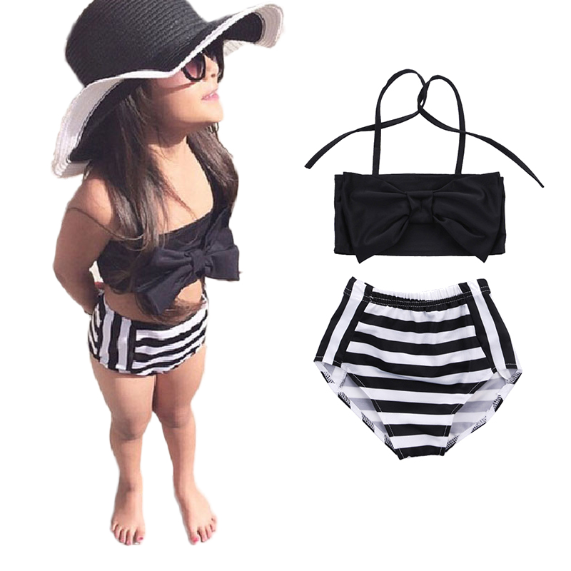 Lemons /& Limes Baby Girls White Contrast Stripe Cirque Ruffle Detail One Piece Swimsuit 24M