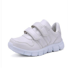 2016Boys white shoes child sport shoes autumn female child casual shoes child sports running shoes