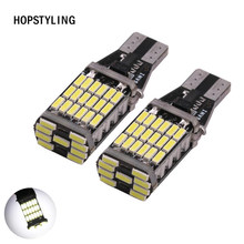 2x T15 W16W LED Reverse Light Bulbs 920 921 912 4014 45SMD Highlight LED Backup Parking Light Lamp Bulbs DC12V Canbus(China)